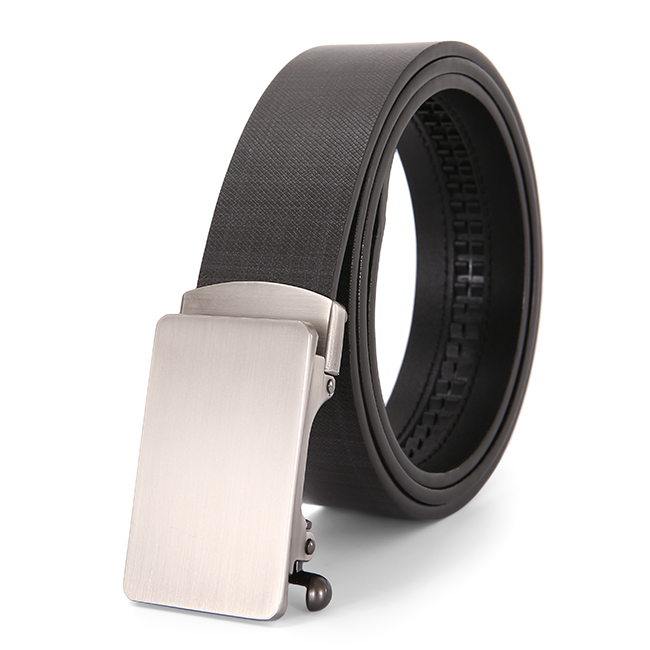 New adjustable business and casual automatic belt black pu leather belts for men YH2012-106